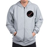 Flag Map of Bermuda Zip Hoodie