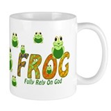 Frog Fully Rely On God Small Mugs