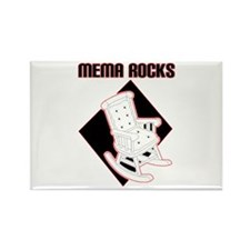 Mema Rocks Rectangle Magnet