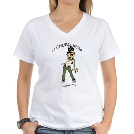 La Chupacabra Women's V-Neck T-Shirt