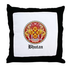 Bhutanese Coat of Arms Seal Throw Pillow