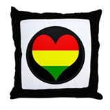I love Bolivia Flag Throw Pillow