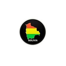 Flag Map of Bolivia Mini Button (10 pack)