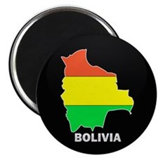 Flag Map of Bolivia Magnet