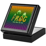 Frog Fully Rely On God Keepsake Box