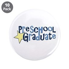 "Preschool Graduate 3.5"" Button (10 pack)"