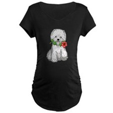 Westie with Flower T-Shirt