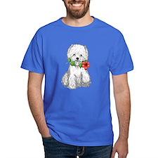Westie with Flower T-Shirt