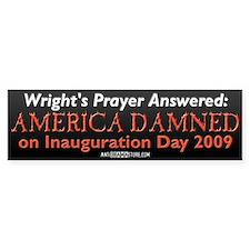 Wright's Prayer Answered Bumper Bumper Sticker