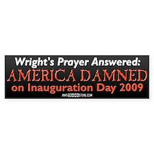 Wright's Prayer Answered Bumper Sticker (50 pk)