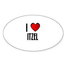I LOVE ITZEL Oval Decal