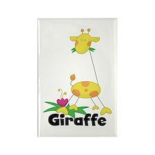 Whimsical Giraffe Rectangle Magnet