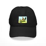 Mille Fleur Rooster & Hen Black Cap