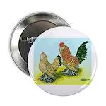 Mille Fleur Rooster & Hen Button
