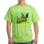 Mille Fleur Rooster & Hen Green T-Shirt