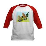 Mille Fleur Rooster & Hen Kids Baseball Jersey