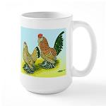Mille Fleur Rooster & Hen Large Mug