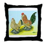 Mille Fleur Rooster & Hen Throw Pillow