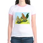 Mille Fleur Rooster & Hen Jr. Ringer T-Shirt