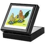 Mille Fleur Rooster & Hen Keepsake Box