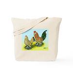 Mille Fleur Rooster & Hen Tote Bag