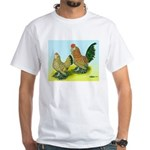 Mille Fleur Rooster & Hen White T-Shirt