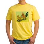Mille Fleur Rooster & Hen Yellow T-Shirt