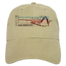 Bush Economics Baseball Cap - white or khaki