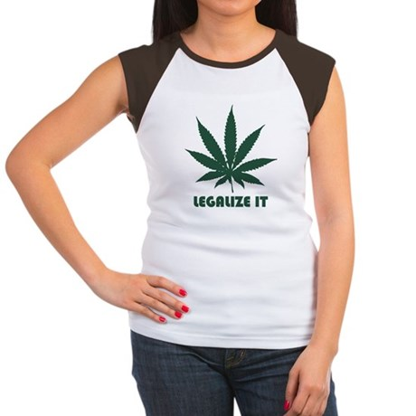 Legalize It Womens Cap Sleeve T-Shirt
