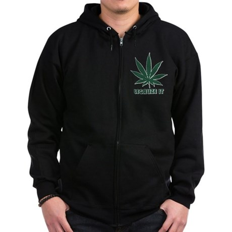 Legalize It Zip Dark Hoodie