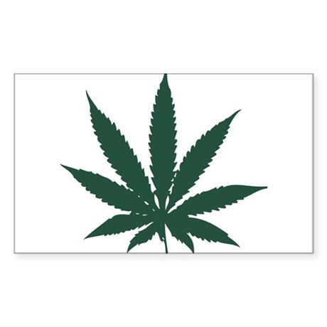 Cannabis Leaf Rectangle Sticker