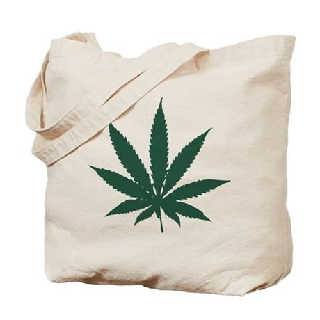 Cannabis Leaf Tote Bag