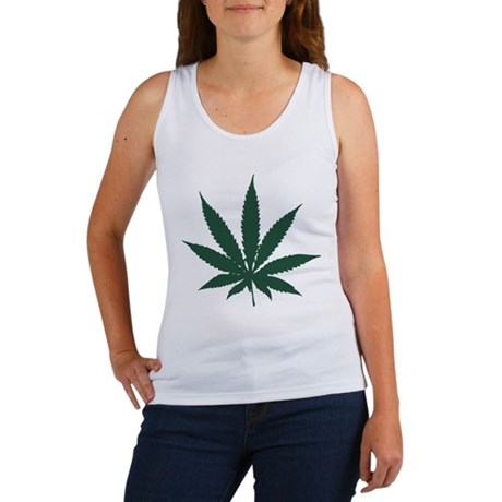 Cannabis Leaf Womens Tank Top