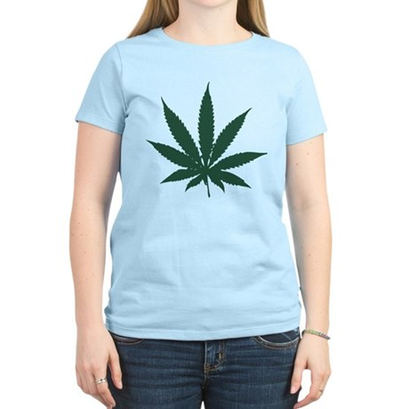 Cannabis Leaf Womens Light T-Shirt