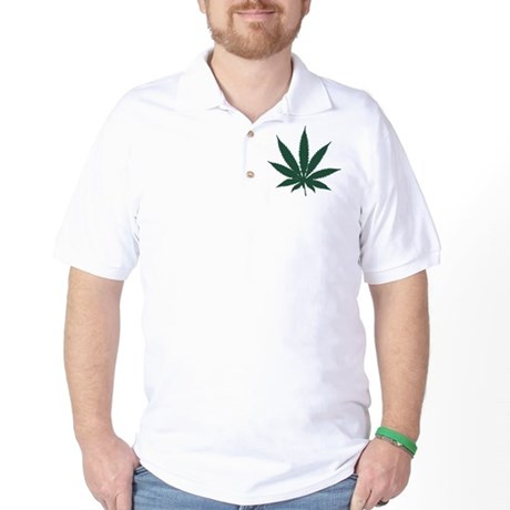 Cannabis Leaf Golf Shirt