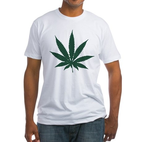 Cannabis Leaf Fitted T-Shirt