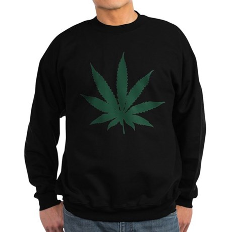 Cannabis Leaf Dark Sweatshirt