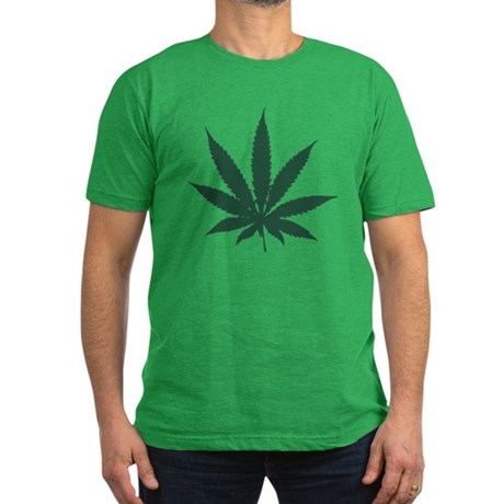 Cannabis Leaf Mens Fitted Dark T-Shirt
