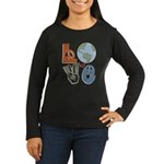 Love Earth Women's Long Sleeve Dark T-Shirt