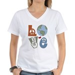 Love Earth Women's V-Neck T-Shirt