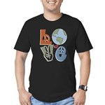 Love Earth Men's Fitted T-Shirt (dark)