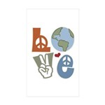 Love Earth Rectangle Sticker 50 pk)