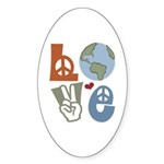 Love Earth Oval Sticker (10 pk)