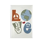 Love Earth Rectangle Magnet (10 pack)