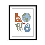 Love Earth Framed Panel Print