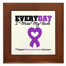 PancreaticCancer Uncle Framed Tile