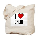 I LOVE GRETA Tote Bag