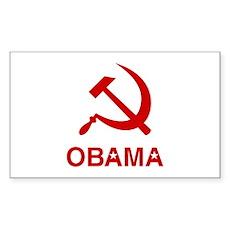 Socialist Obama Rectangle Sticker