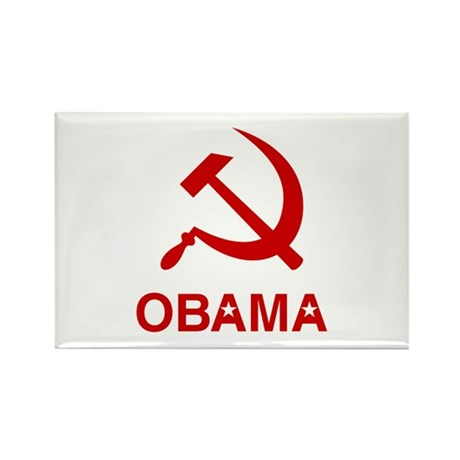 Socialist Obama Rectangle Magnet