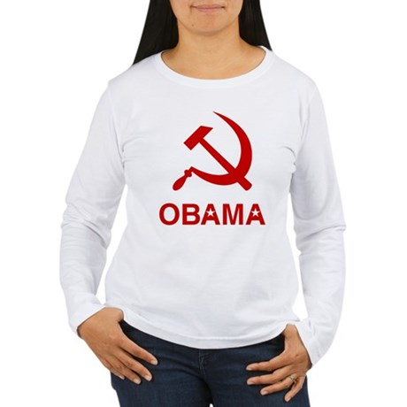 Socialist Obama Womens Long Sleeve T-Shirt